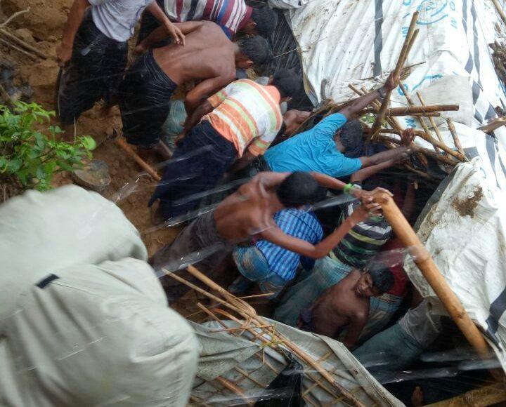 Bangladesh Refugee Camp in Raining Season